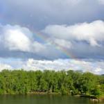 Rainbow over Clayhole in Chaska