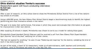 Ohio school district to emulate Minnetonka School District