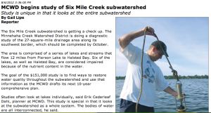Six Mile Creek study